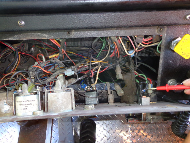 Luckily the front of the dash board came off in 3 pieces so you could work on the wiring.  This truck had a lot of electrical mysteries - some being explained by broken switches.