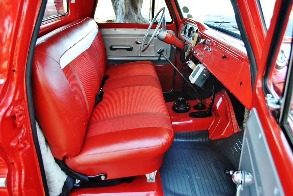 I had the interior painted red and the seat recovered