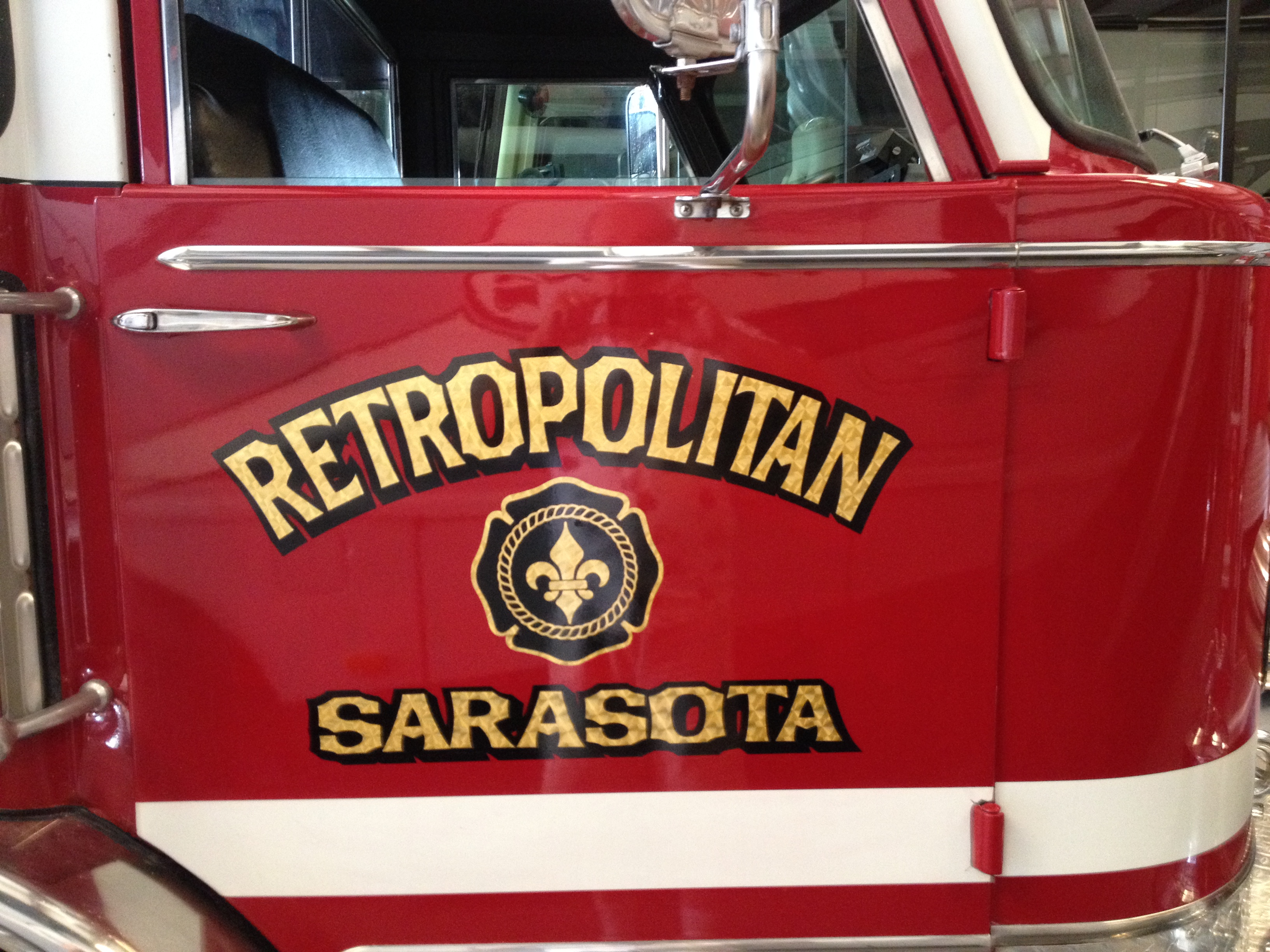 In the 70s and 80s Sarasota County FD assumed several smaller departments.  The department was branded as Metropolitan Sarasota FD, or just METRO.   My friend Tom Hutton in New York had a collection of ambulances he called Retro Ambulance.  In my mind, Metro and Retro merged.