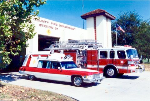 This photo op was at Sarasota County Fire Station #21 (#31 at the time).  I always took photos at the station with each project when it was done.